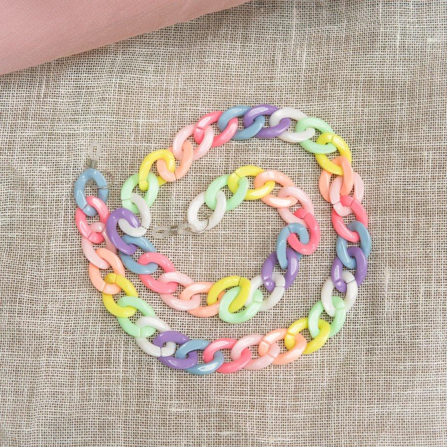 Brillenkette CHUNKY Pastell Rainbow