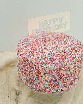 Caketopper Happy Birthday irisierend