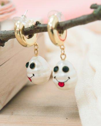 Ohrringe Perlen Smiley