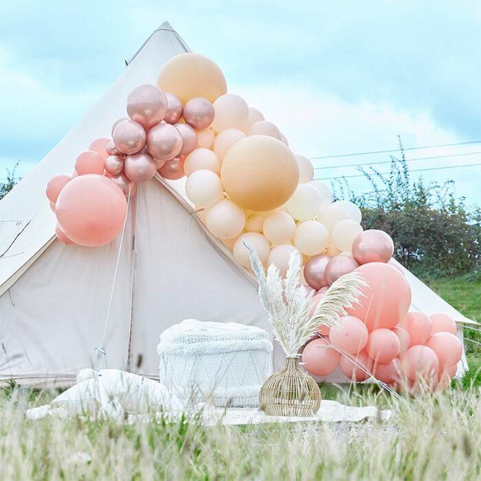 Ballongirlande Rosé Blush