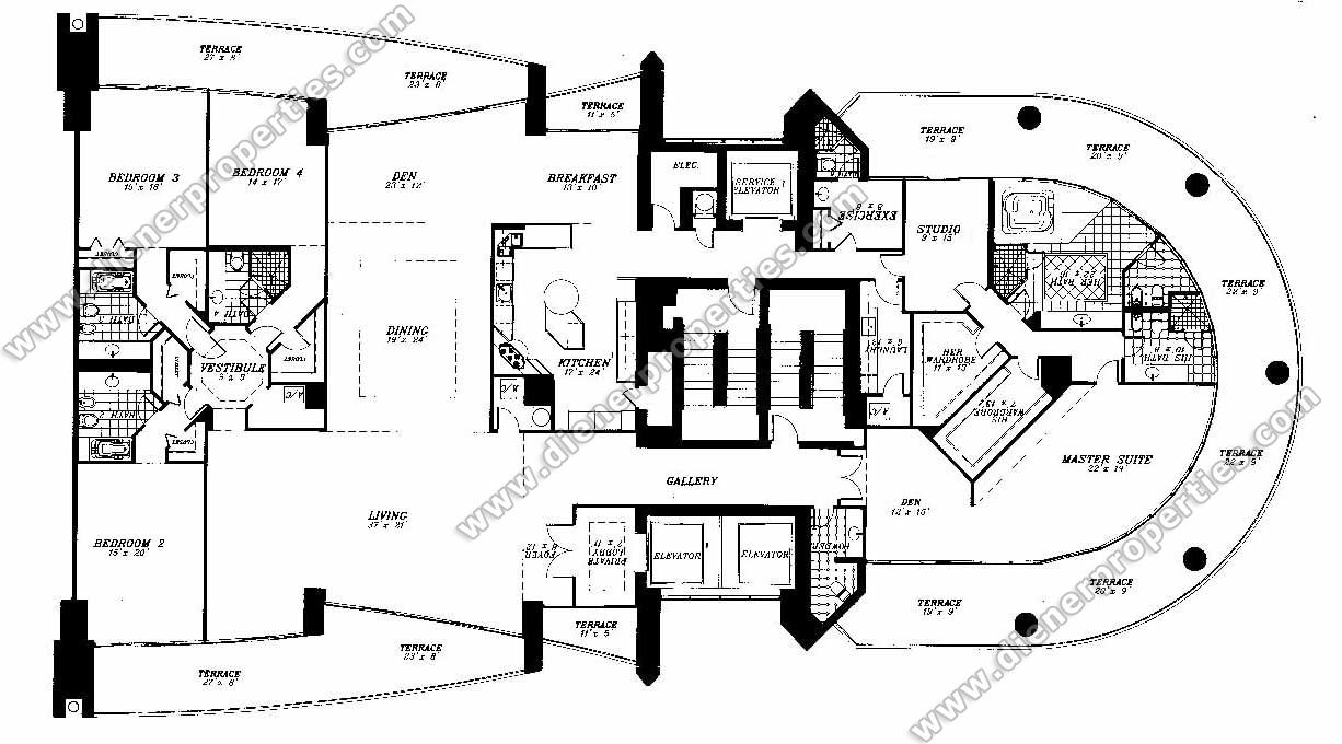 Santa Maria Brickell Condos for Sale Rent Floor Plans