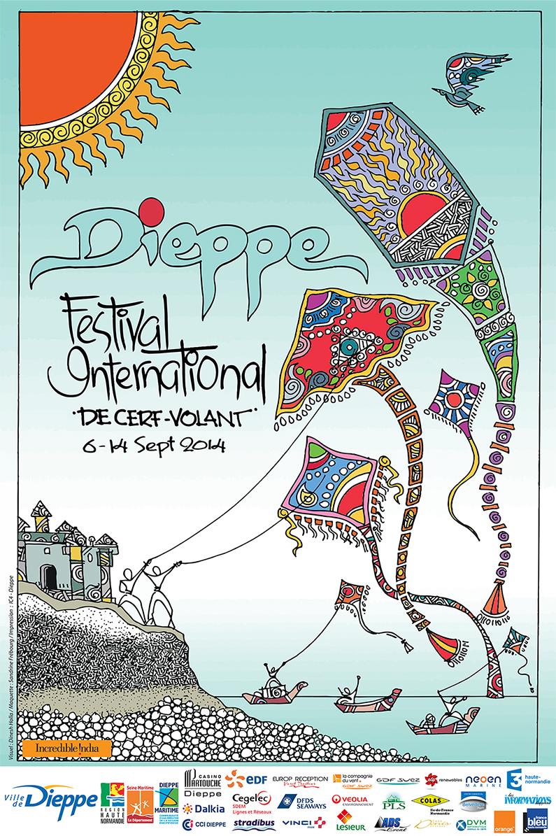 festival cerf volant Dieppe 2014