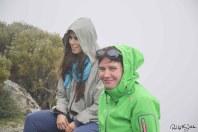 Warten bis der Nebel sich lichtet. Mit Catarina Silva, Cefin im Hotel Casa das Penhas Douradas. Foto: Flora Jädicke