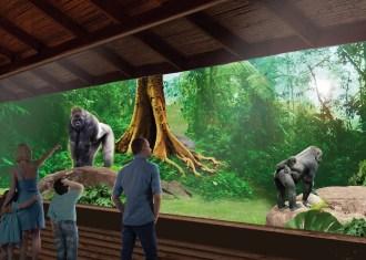 Nieuw verblijf voor gorilla's