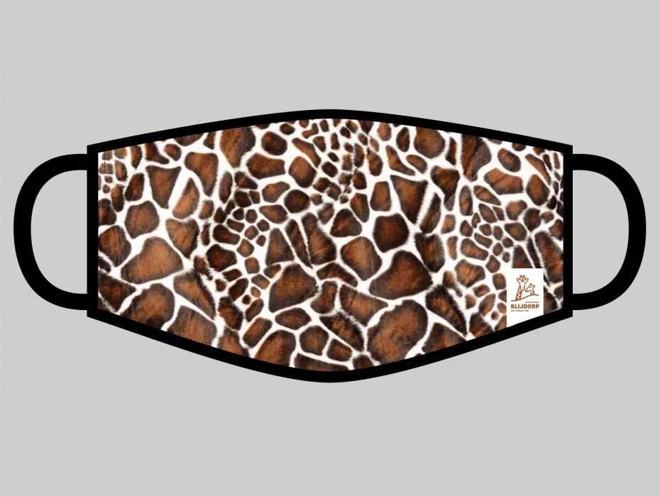 Blijdorp Mondkapje met giraffeprint