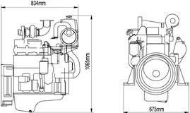 CUMMINS 4BTA3.9-GM47 Diesel Engine For Marine Application