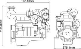 CUMMINS 6BT5.9-GM80 Diesel Engine For Marine Application