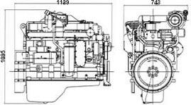 CUMMINS 6LTAA8.9-G Diesel Engine For Generator Set