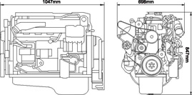 CUMMINS ISBe185-30 Diesel Engine For Vehicle Application