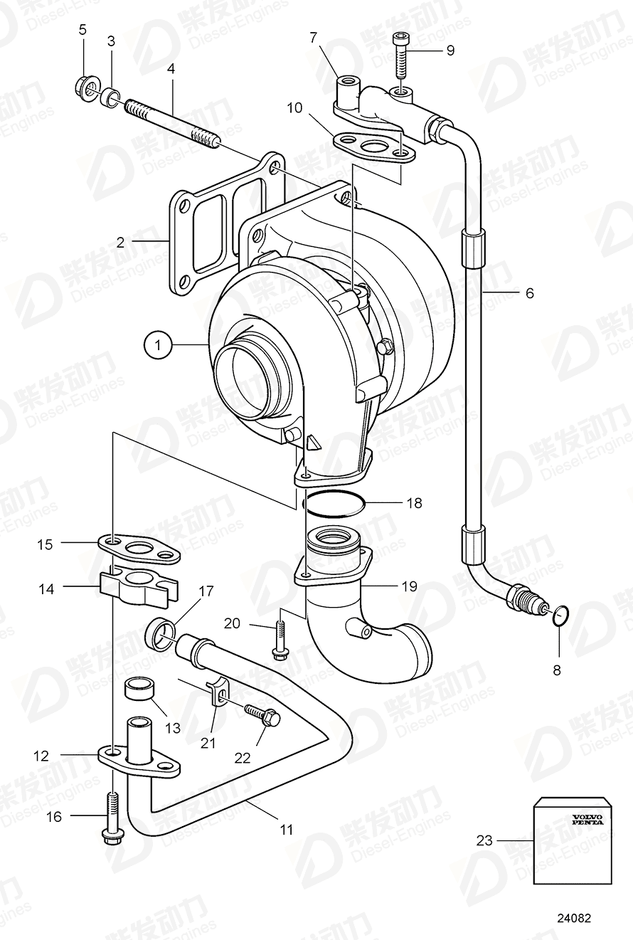 Turbocharger 3802141 price,VOLVO,Intake and Exhaust System