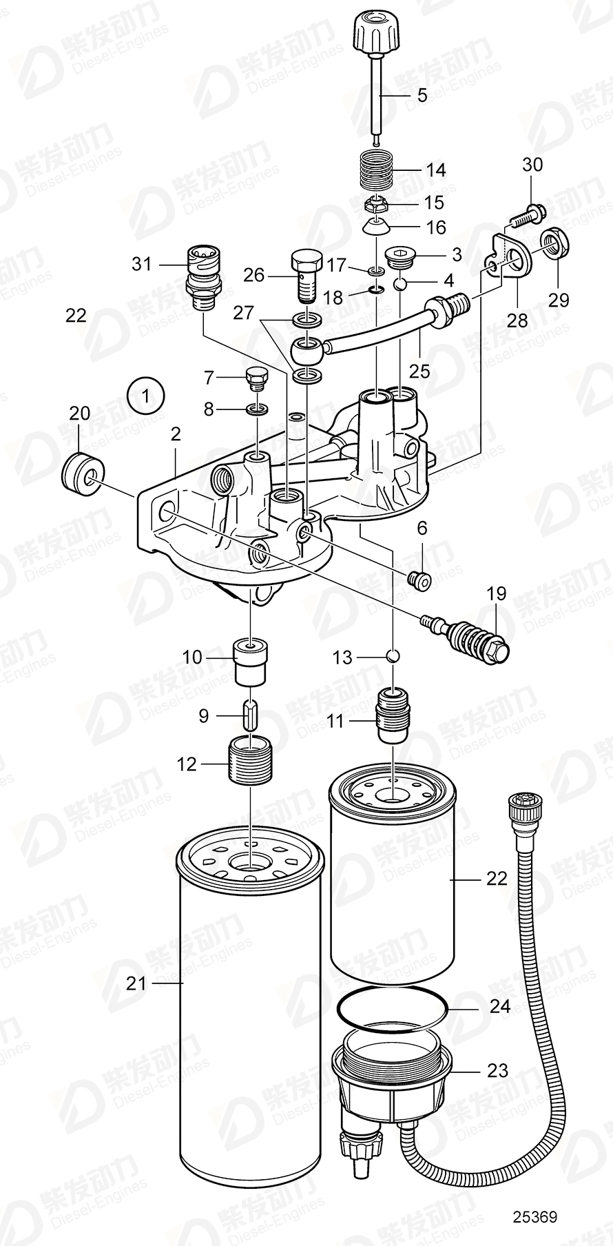 Fuel filter housing 3848884 price,VOLVO,Fuel System spare