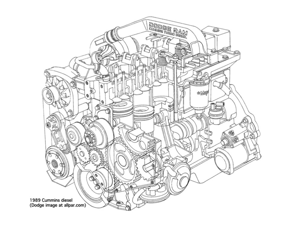 medium resolution of the cummins 6bt that went into the first generation cummins dodge ram