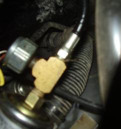 installing fuel pressure gauge big line fuel sensor  [ 1315 x 1513 Pixel ]