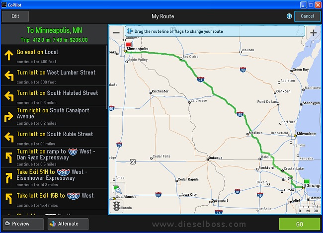 Copilot Live Truck version 10 routing laptop GPS system software for truckers