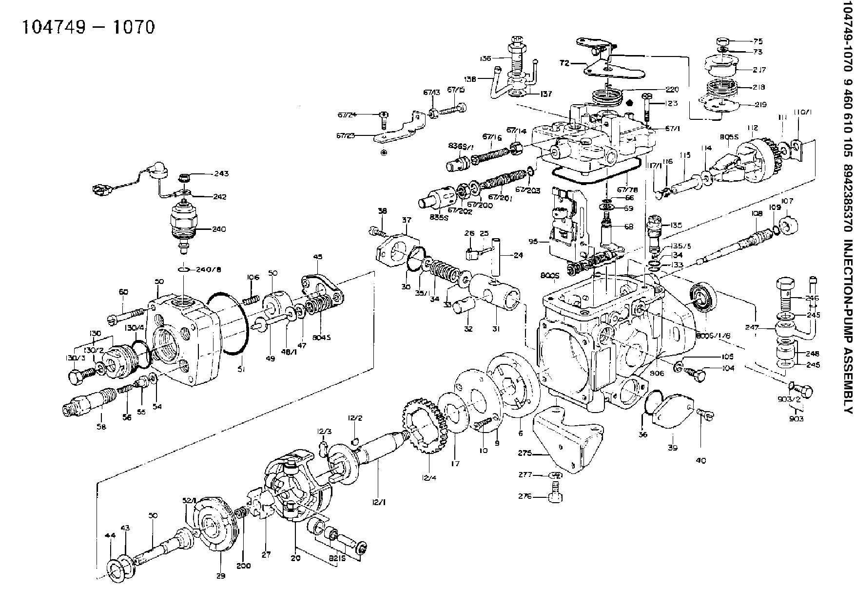 Kubota D1005 Engine Parts Manual