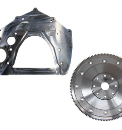 adapter plate and flex plate 12v 24v to turbo 350 400 700r4 4l60e 4l80e requires ford 6 0l starter [ 5184 x 3888 Pixel ]