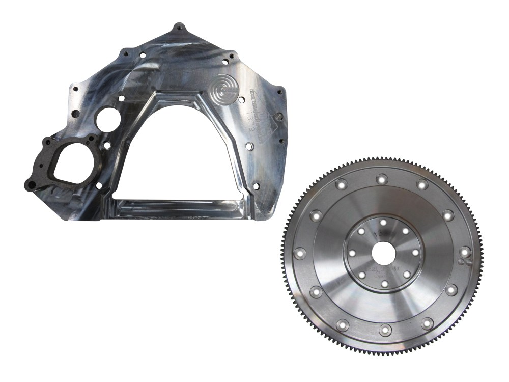 medium resolution of adapter plate and flex plate 12v 24v to turbo 350 400 700r4 4l60e 4l80e requires ford 6 0l starter
