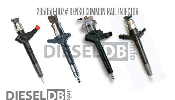295050-007# Denso Common Rail Injector ‹ DieselDB