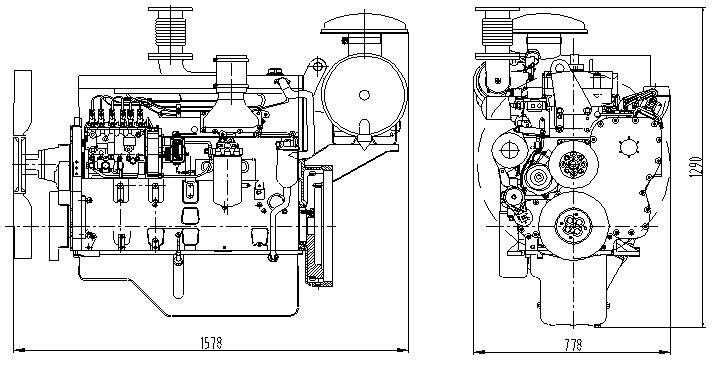 China Shangchai D Series Diesel Engine Technical Data