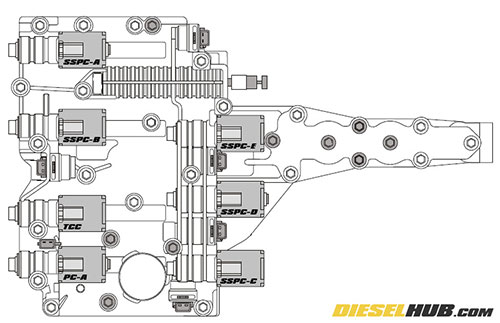 Ford E 350 Transmission Diagram Dolenoid. Ford. Auto Parts