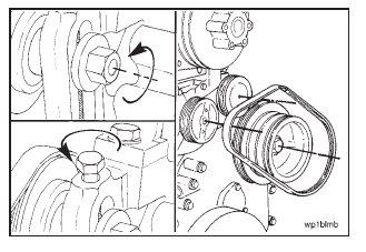 Cummins N14 – Water Pump Belt – Removal