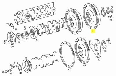 Mercedes Flywheel for Manual Transmission New OEM OM615