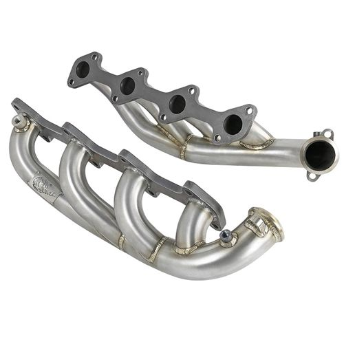 afe 48 33022 twisted steel 304 stainless steel headers 03 07 6 0l ford powerstroke