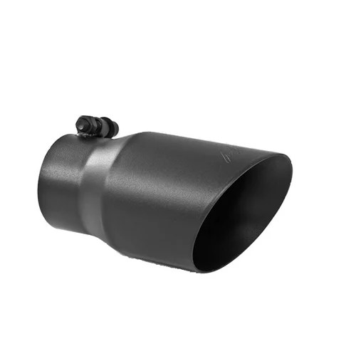 mbrp t5122blk 3 inlet x 4 outlet x 8 dual wall angle cut black exhaust tip