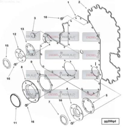 l10 m11 gear cover gasket set