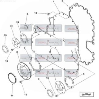 l10 m11 gear cover gasket set