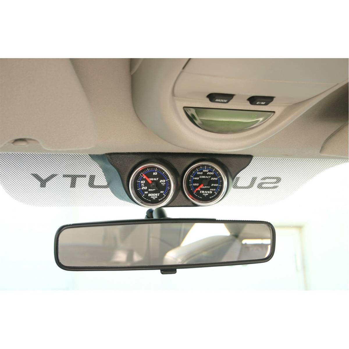 hight resolution of autometer autometer gauge mount overhead console dual 2 1 16in