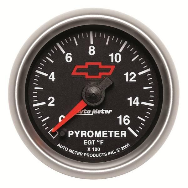 Autometer #3644-00406 Gauge; Pyrometer Egt ; 2 1 16in.; 1600deg. Stepper Motor; Gm Bowtie