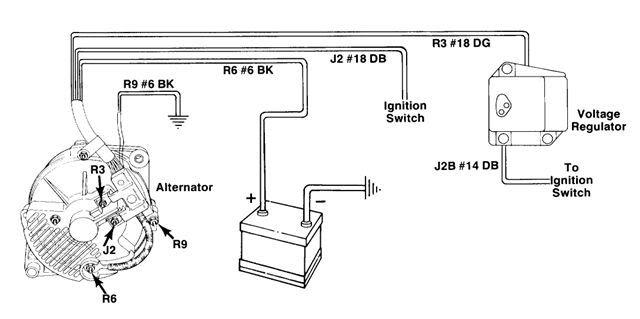 93 ford voltage regulator wiring diagram