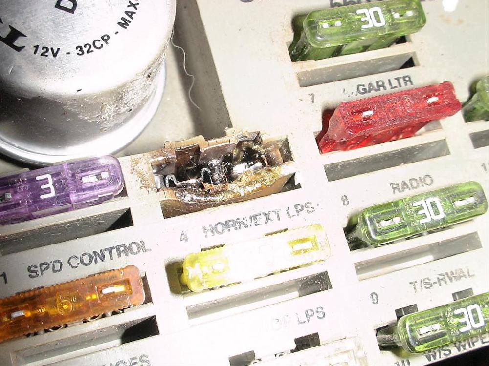medium resolution of completely melted fuse dodge diesel diesel truck resource forumscompletely melted fuse dsc00586 jpg