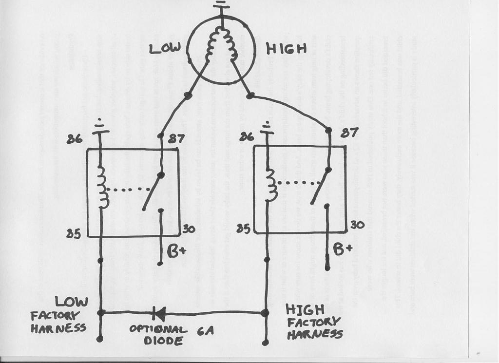 wiring diagram headlight relay