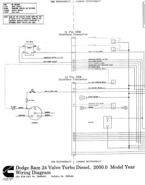 Wiring diagrams for 1998 24v ECM  Dodge Diesel  Diesel