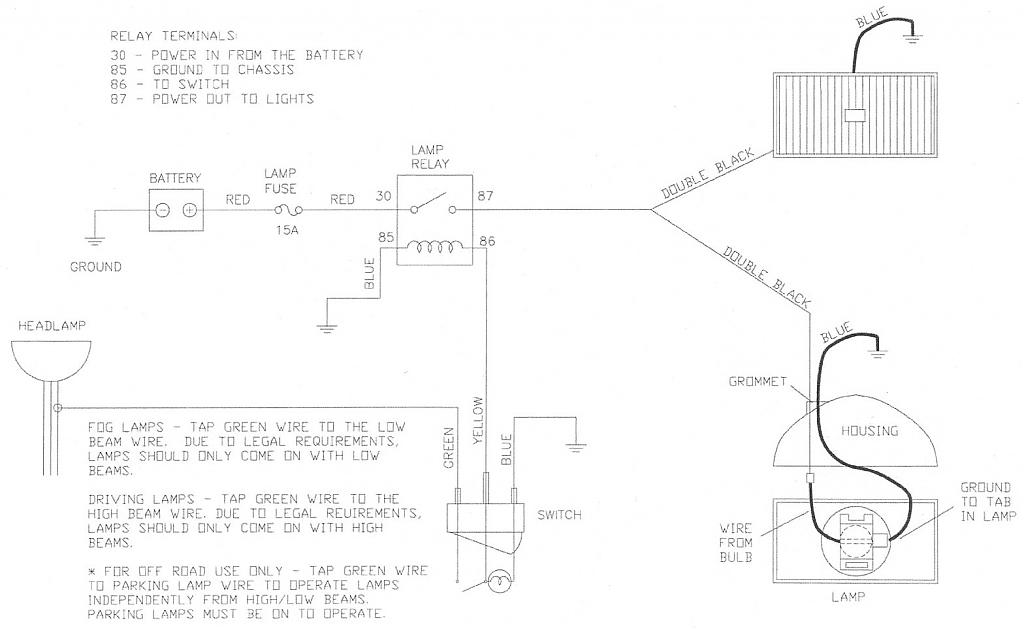 wiring diagram relay off road lights in parallel aftermarket reverse - page 2 dodge diesel truck resource forums