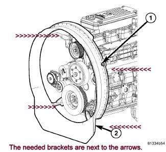 Lost water pump/ fan clutch/ blade, and shroud, convert