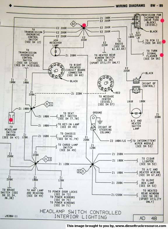 marine tach wiring diagram renault megane scenic radio mopar tachometer free for you oem dodge diesel truck boat