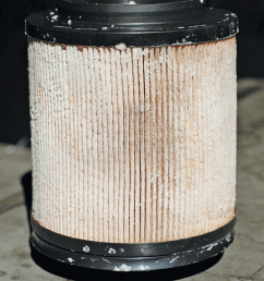 10 here you see a fuel filter that s encrusted with urea crystals from def this is a sure sign of def contamination in the fuel  [ 792 x 1000 Pixel ]