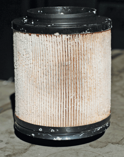 small resolution of 10 here you see a fuel filter that s encrusted with urea crystals from def this is a sure sign of def contamination in the fuel