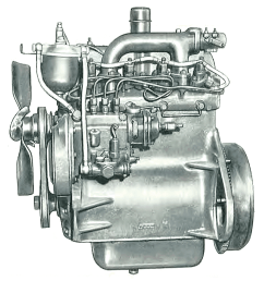 a larger bore db 154 was also used on larger tractors it had a robust five main block with wet sleeves  [ 943 x 1000 Pixel ]