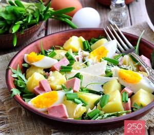 Salada crocante com fiambre