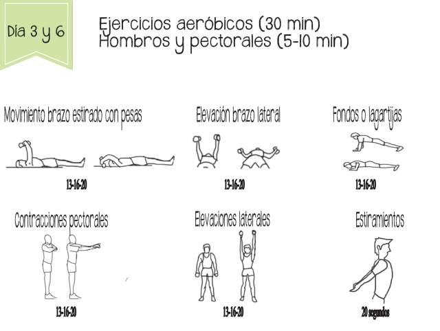 Tonificación de hombros y pectorales. Ejercicios para adelgazar rápido