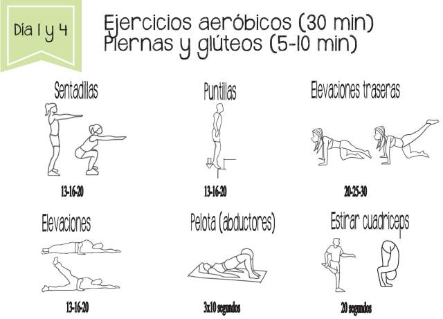 Tonificación de piernas y glúteos. Ejercicios para adelgazar rápido