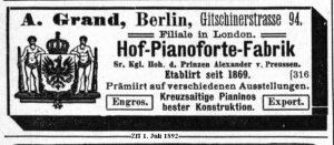 Grand, Anzeige 1892