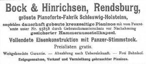 Anzeige Bock & Hinrichsen