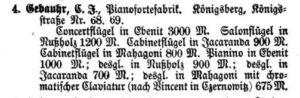 Gebauhr 1875 Königsberg