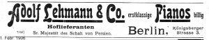 Lehmann 1906