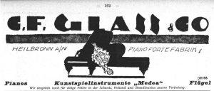 Anzeige Glass 1924